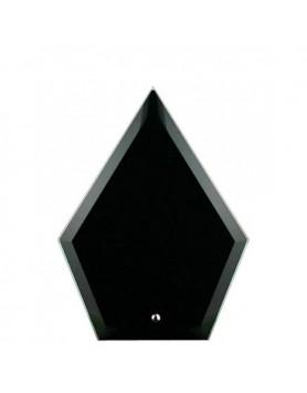 Glass Plaque Arrowhead Black 195mm