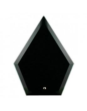 Glass Plaque Arrowhead Black 225mm