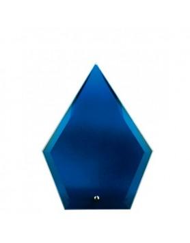 Glass Plaque Arrowhead Blue 165mm