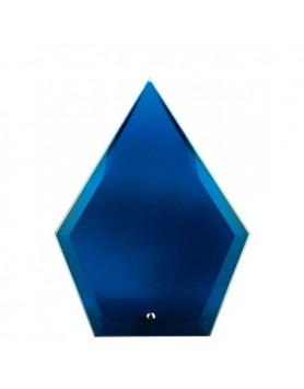 Glass Plaque Arrowhead Blue 195mm