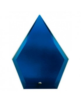Glass Plaque Arrowhead Blue 225mm