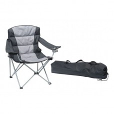Folding Padded Picnic Chair - Grey/Black