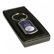 Key Ring Rectangle Silver with 25mm Insert