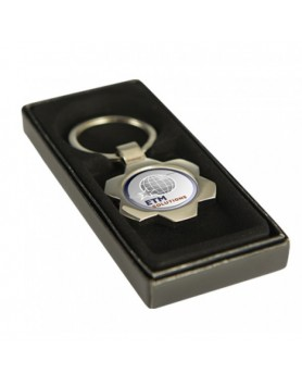 Key Ring Flower Silver with 25mm