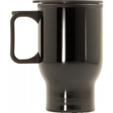 Travel Coffee Mug with Handle Black 470ml