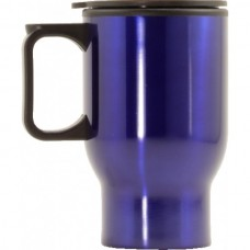 Travel Coffee Mug with Handle Blue 470ml