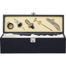 Wine Box (Black) with Tools