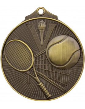 Medal - Tennis Gold Victory 52mm