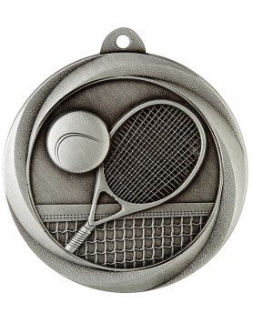 Medal - Tennis Silver 50mm