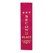 Ribbon Second Place Red