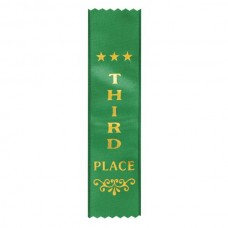 Ribbon Third Place Dark Green