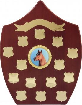 Perpetual Self Standing Shield Rosewood 290mm