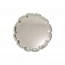 Nickel Plated Tray Ornate 175mm