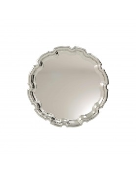 Nickel Plated Tray Ornate 250mm