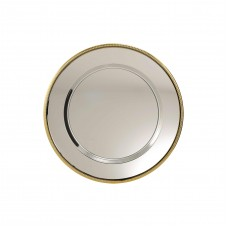 Nickel Plated Tray with Gold Rim 300mm