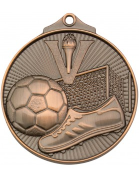 Soccer/Football Sunraysia Medal 52mm - Bronze