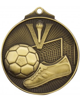 Soccer/Football Sunraysia Medal 52mm - Gold