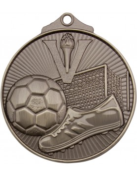 Soccer/Football Sunraysia Medal 52mm - Silver