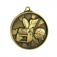 Surf Lifesaving Heavy Two Tone Medal - Gold