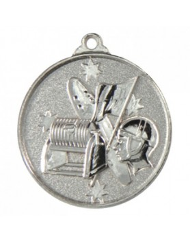 Surf Lifesaving Heavy Stars Medal - Silver