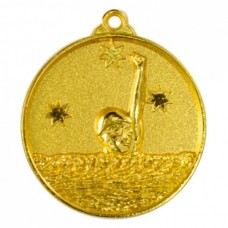 Swimming Heavy Stars Medal 50mm - Gold