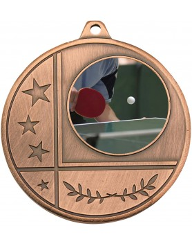 Generic Glazier Frosted Medal Bronze 50mm with 25mm insert