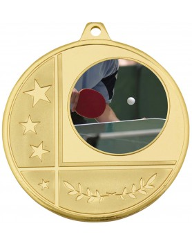 Generic Glazier Frosted Medal Gold 50mm with 25mm insert