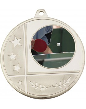 Generic Glazier Frosted Medal Silver 50mm with 25mm insert