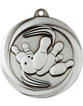 Medal - Ten Pin Bowling Silver 50mm