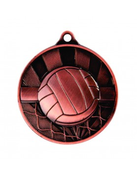 Medal - Two Tone Volleyball Bronze