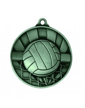 Medal - Two Tone Volleyball Silver