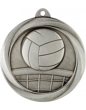 Medal - Volleyball Silver 50mm